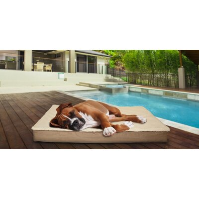 Deluxe Outdoor Orthopedic Pet Bed with Removable Cover Color: Sand, Size: Jumbo (44 L x 35 W)