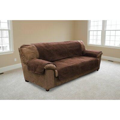 Suede Sofa Slipcover Color: Espresso