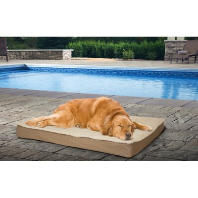 Deluxe Outdoor Orthopedic Pet Mat/Pad Size: Medium (20 W x 30 D x 3.5), Color: Sand