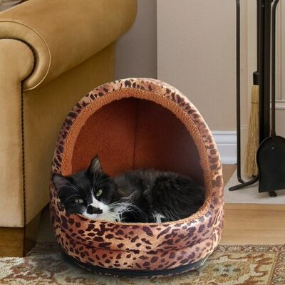 Neagle Fur Hood Cat Bed Color: Cheetah