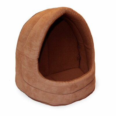 Neale Snuggle & Terry Suede Hood Cat Bed Color: Camel