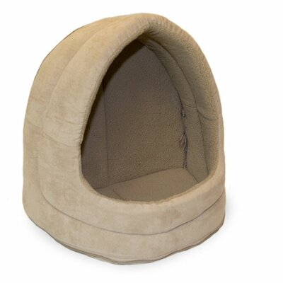 Snuggle & Terry Suede Hood Cat Bed Color: Clay