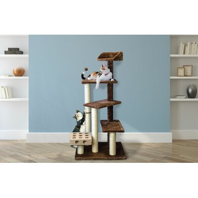 49 Tiger Tough Cat Tree Color: Brown