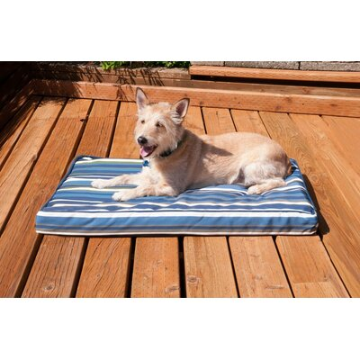 Nap� Indoor/Outdoor Print Deluxe Mat Pet Bed Size: Medium (30 L x 20 W), Color: Blue