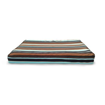 Nap� Indoor/Outdoor Print Deluxe Mat Pet Bed Size: Large (36 L x 27 W), Color: Espresso