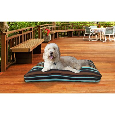 Nap� Indoor/Outdoor Print Deluxe Pillow Pet Bed Size: Medium (30 L x 20 W), Color: Espresso