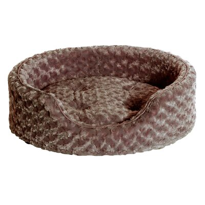 Ultra Plush Oval Pet Bed with Removable Cover Color: Cream, Size: X-Large (30 L x 27 W)
