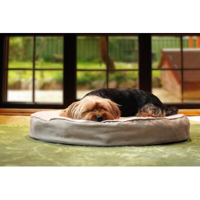 Deluxe Round Orthopedic Pet Dog Bed Color: Navy, Size: Medium (40 L x 40 W)