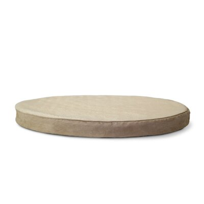 Boris Round Orthopedic Pet Dog Bed Size: Large (48 L x 48 W), Color: Clay