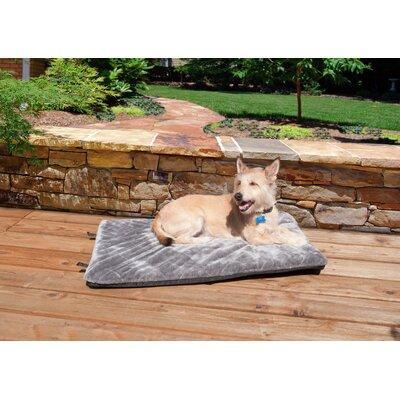 NAP Plush Fur Crate Orthopedic Pet Mat Size: Medium (29 L x 18 W), Color: Silver