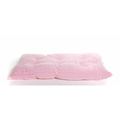 Ultra Soft Curly Fur Plush Dog Bed Color: Strawberry, Size: Large (35 L x 22 W)