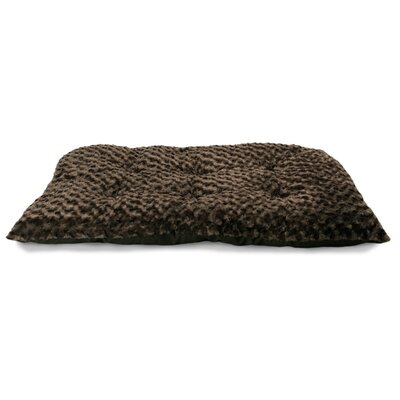 Cecil Ultra Soft Curly Fur Plush Dog Bed Size: Medium (29 L x 18 W), Color: Chocolate