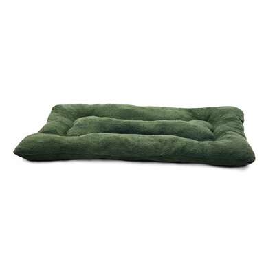 Snuggle Terry and Suede Nap Mat Size: Large (35 L x 22 W), Color: Forest