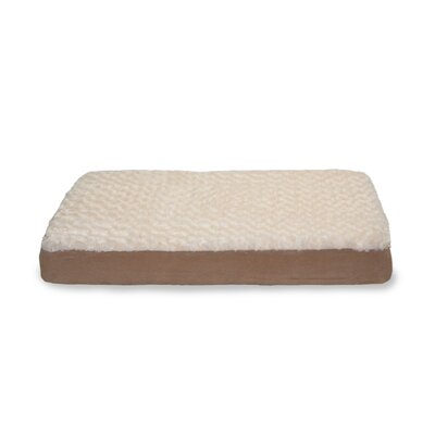 Deluxe Ultra Plush Cooling Gel Foam Pet Bed Color: Cream, Size: Medium