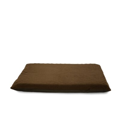 Terry Top Ortho Dog Bed Color: Espresso, Size: 2 H x 25.5 W x 34.5 D