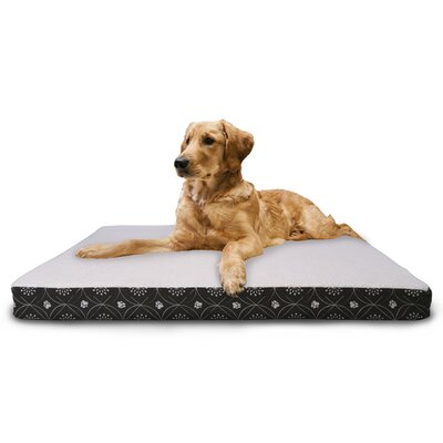 Deluxe Paw Decor Memory Foam Dog Bed Color: Dark Espresso, Size: Jumbo (44 L x 35 W)