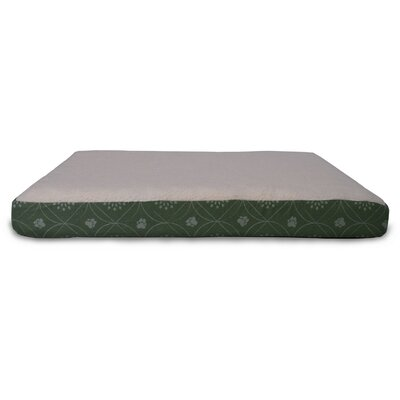 Boris Flannel Egg-Crate Orthopedic Dog Bed Size: Medium (30 L x 20 W), Color: Jade Green