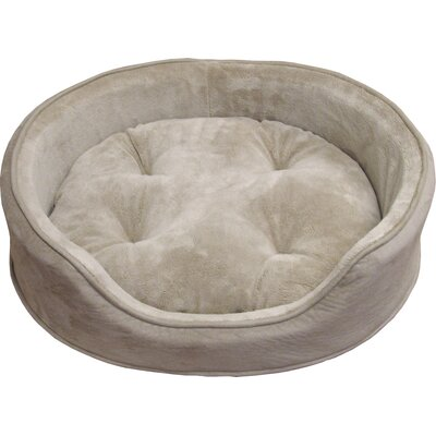 Snuggle Terry & Suede Pet Bed Color: Clay, Size: Medium (23 L x 18 W)