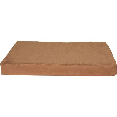 Snuggle Terry and Suede Deluxe Orthopedic Pet Bed Size: Medium (30 L x 20 W), Color: Camel