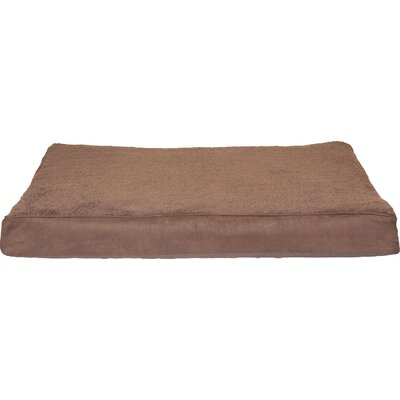 Snuggle Terry and Suede Deluxe Orthopedic Pet Bed Color: Espresso, Size: Jumbo (44 L x 35 W)