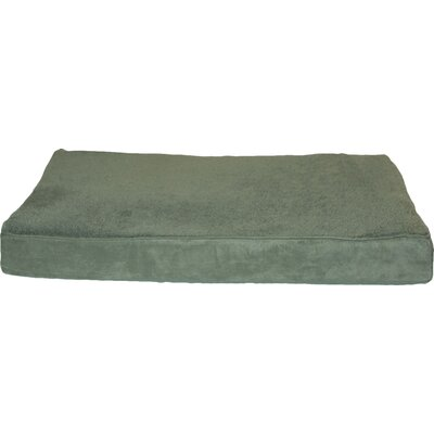 Snuggle Terry and Suede Deluxe Orthopedic Pet Bed Size: Medium (30 L x 20 W), Color: Forest