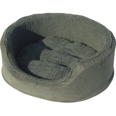 Snuggle Terry & Suede Pet Bed Size: Jumbo (42 L x 29 W), Color: Forest