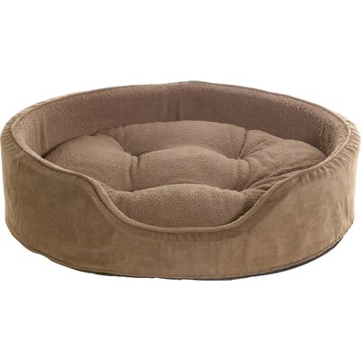 Snuggle Terry & Suede Pet Bed Size: Medium (23 L x 18 W), Color: Espresso