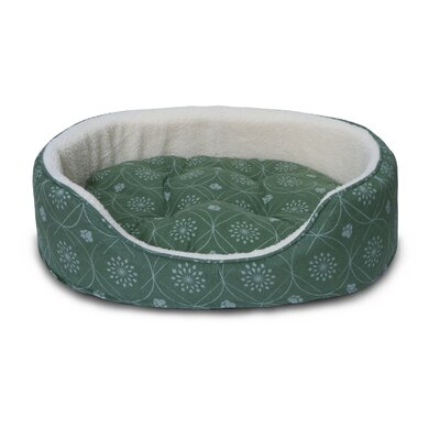 D�cor Flannel Oval Dog Sofa with Removable Cover Size: Small, Color: Jade Green
