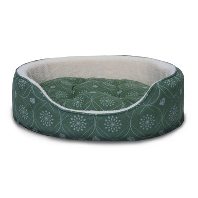 D�cor Flannel Oval Dog Sofa with Removable Cover Size: Large, Color: Jade Green