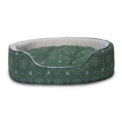 D�cor Flannel Oval Dog Sofa with Removable Cover Size: XLarge, Color: Jade Green