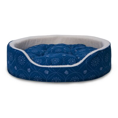 D�cor Flannel Oval Dog Sofa with Removable Cover Size: XLarge, Color: Twilight Blue