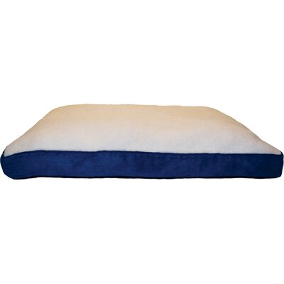 Bruce Faux Sheepskin and Suede Deluxe Pillow Size: Medium - 30 L x 20 W, Color: Navy