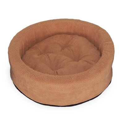 Lounger Dog or Cat Bed Cuddler Color: Camel