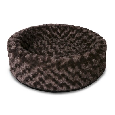 Lounger Dog or Cat Bed Cuddler Color: Chocolate