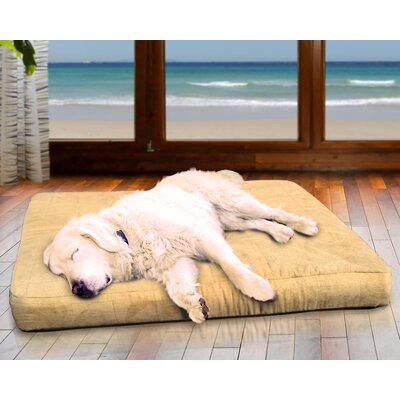 NAP Quilted Suede Egg Crate Orthopedic Dog Bed Size: 30 L x 20 W, Color: Camel