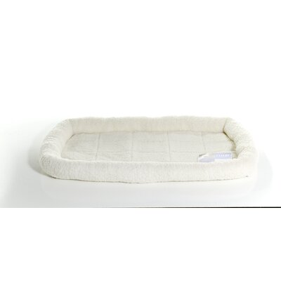 Furhaven Pet NAP Bolster Pet Bed Color: Cream, Size: 22 L x 35 W