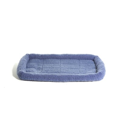 Furhaven Pet NAP Bolster Pet Bed Color: Blue, Size: 19 L x 28 W
