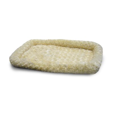 Furhaven Pet NAP Bolster Pet Bed Size: 22 L x 35 W, Color: Latte