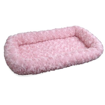 Furhaven Pet NAP Bolster Pet Bed Size: 25 L x 39 W, Color: Strawberry