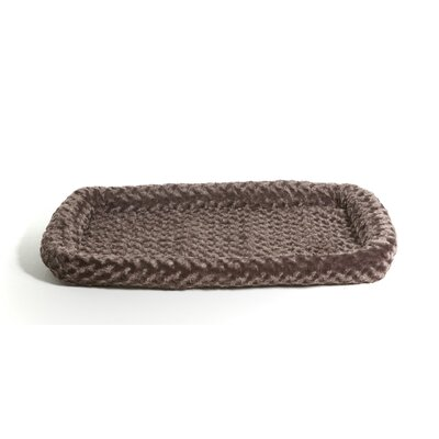 Furhaven Pet NAP Bolster Pet Bed Color: Chocolate, Size: 19L x 28 W
