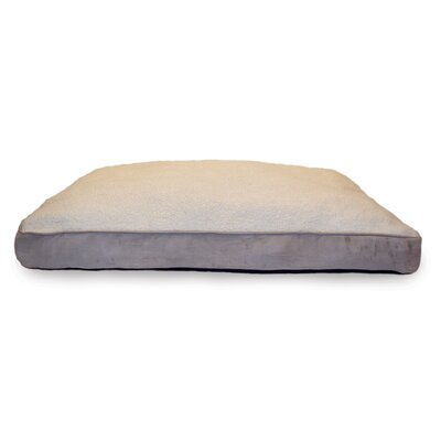 Snuggle Terry and Suede Deluxe Orthopedic Pet Bed Size: Medium (30 L x 20 W), Color: Clay