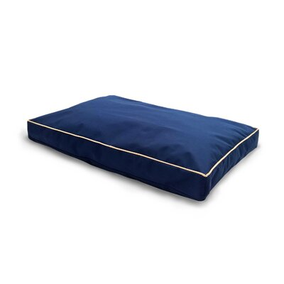 NAP Indoor/Outdoor Solid Deluxe Pillow Pet Bed Color: Blue, Size: Large (36 L x 27 W)