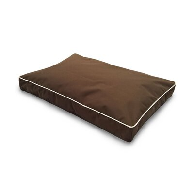 Billy Indoor/Outdoor Solid Deluxe Pillow Pet Bed Size: Medium (30 L x 20 W), Color: Espresso