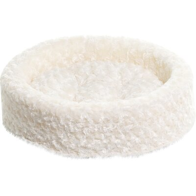 Homer Lounger Dog or Cat Bed Cuddler Color: Cream