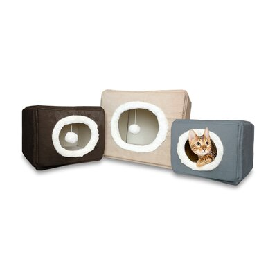 Cozy Cube Cat/Dog Pet Bed Color: Cream, Size: Medium