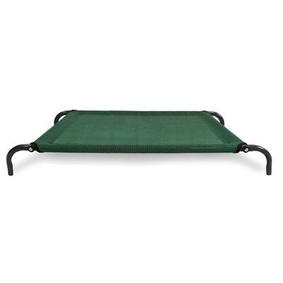 Elevated Pet Dog Bed/Cot Color: Forest, Size: Medium (43.25 L x 32.25 W)