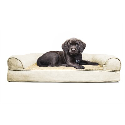 Furhaven Plush Orthopedic Sofa-Style Dog Bed Color: Clay, Size: Medium (20 L x 30 W)