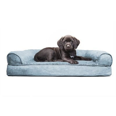 Furhaven Plush Orthopedic Sofa-Style Dog Bed Color: Deep Pool, Size: Small (20 L x 15 W)