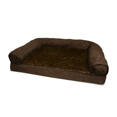 Furhaven Plush Orthopedic Sofa-Style Dog Bed Color: Espresso, Size: Extra Large (44 L x 35 W)