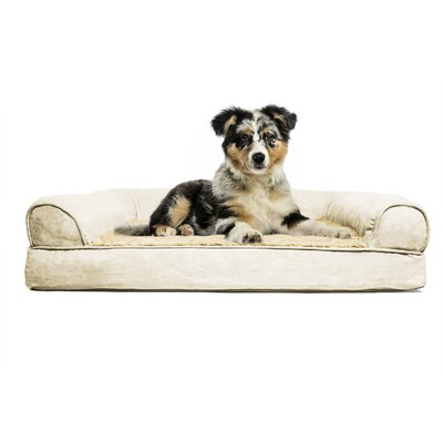 Furhaven Plush Orthopedic Sofa-Style Dog Bed Color: Clay, Size: Extra Large (44 L x 35 W)